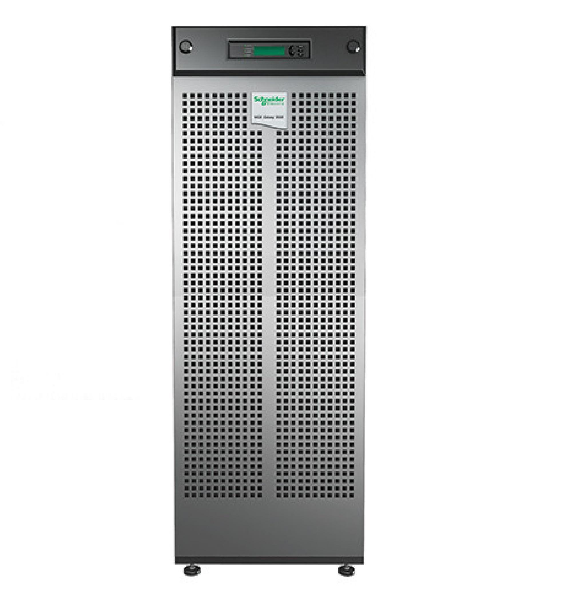 MGE Galaxy 3500, 30 kVA e 208 V, com 3 módulos de baterias expansíveis a 4, startup 5x8