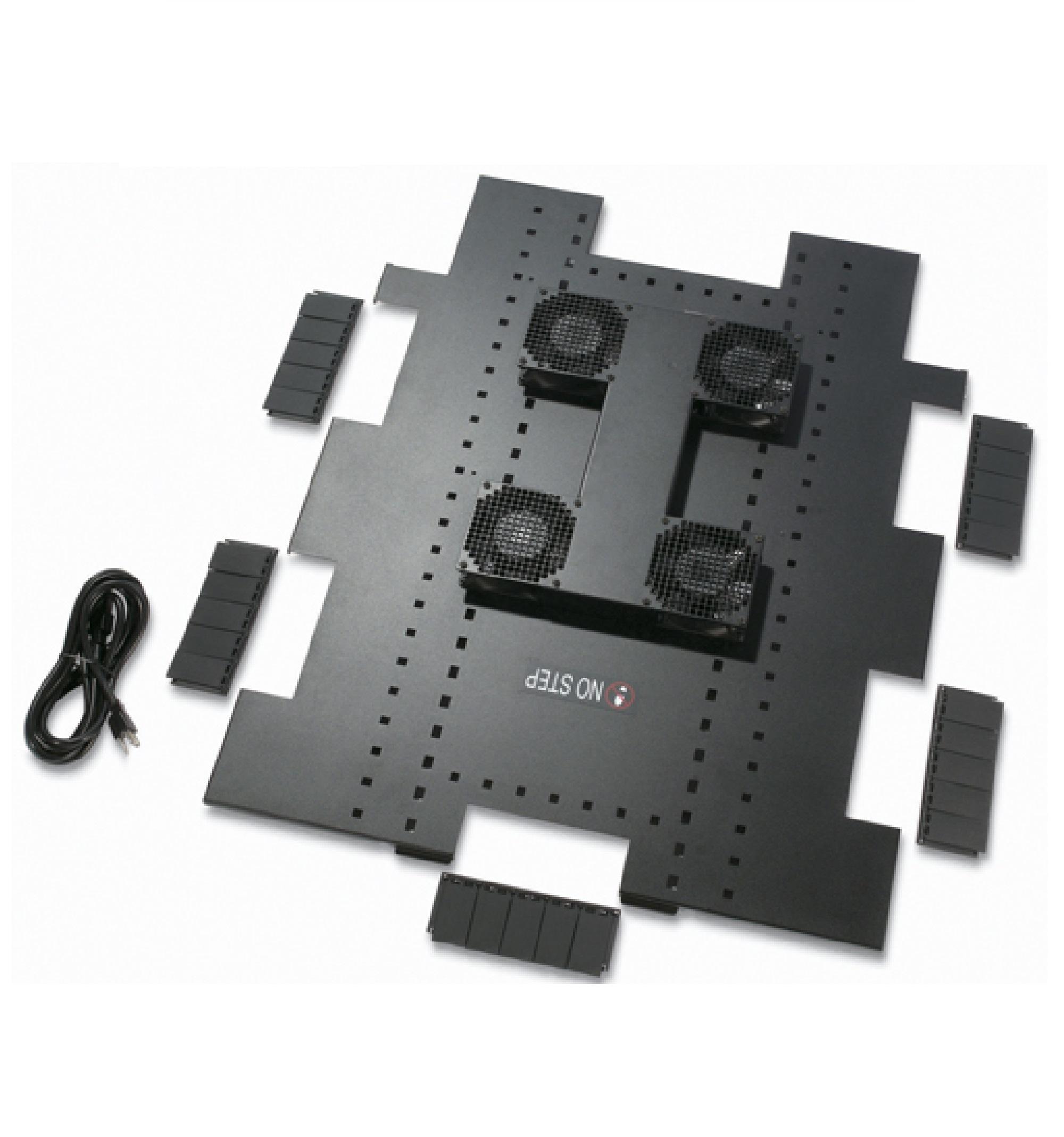 Bandeja para ventilador de teto 120 VCA, 50/60 HZ, para invólucros NetShelter SX de 750 mm de largura x 1070 mm de profundidade