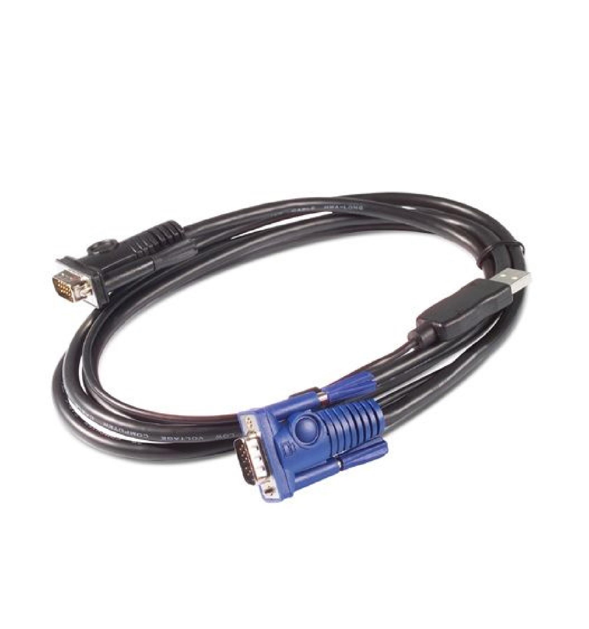 Cabo teclado vídeo mouse SUN USB da APC, 3,6 m