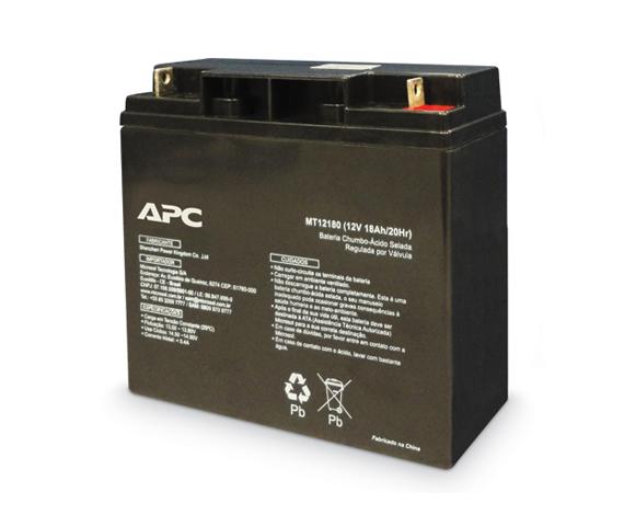 Bateria APC de 18 Amp-hora, selada, sem manutenção