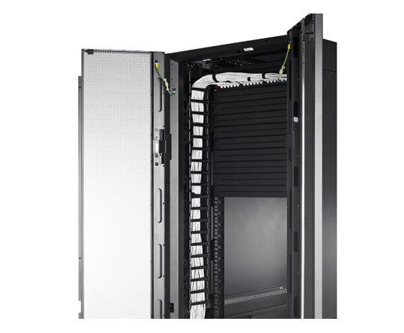 Gerenciador vertical de cabeamento para invólucros NetShelter SX de 600mm de largura e 48 U (Quantidade: 2)