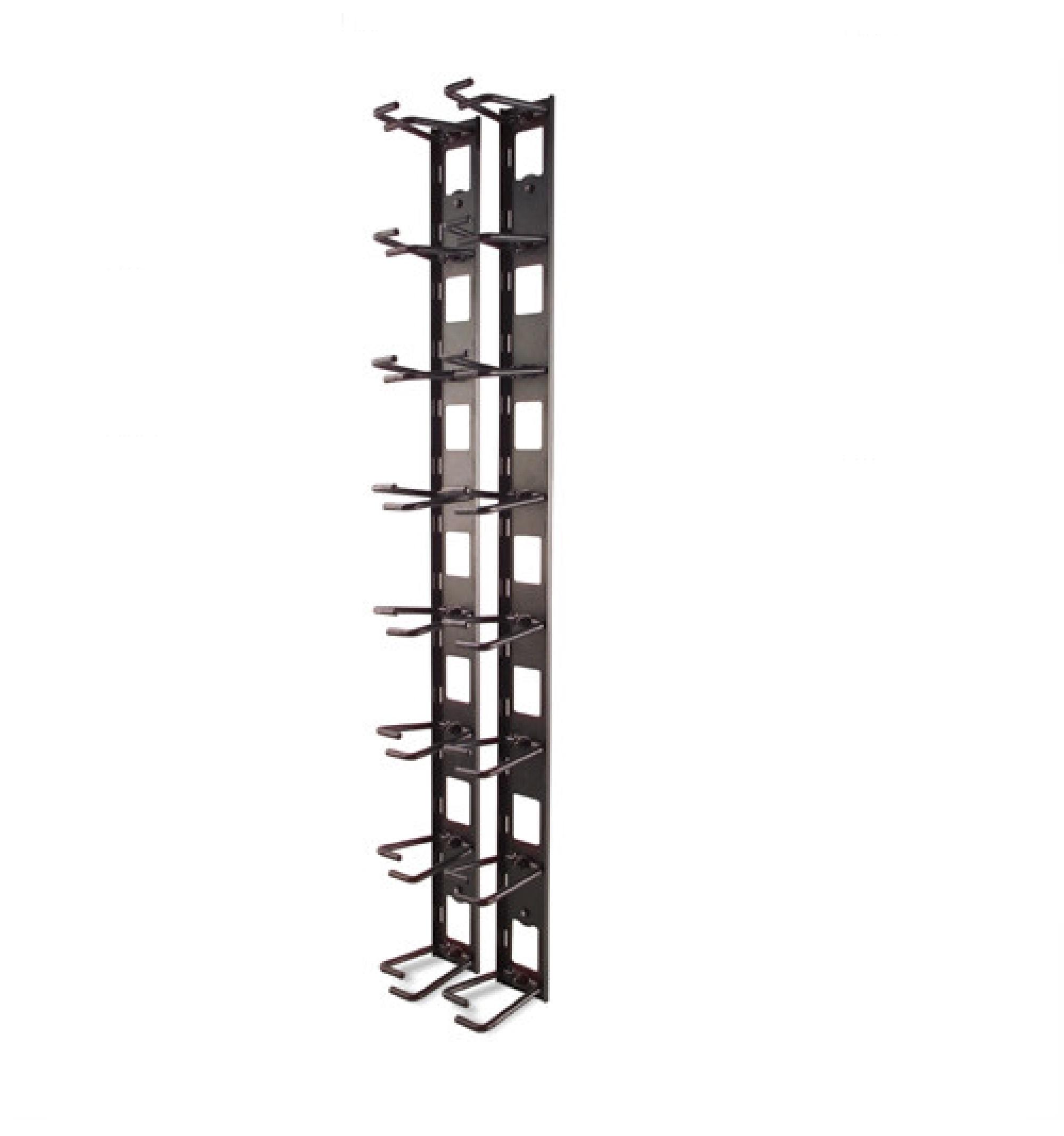 Organizador de cabos vertical, 8 braçadeiras para cabos, não ocupa espaço em U